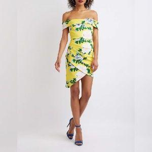 Charlotte Russe Floral Off The Shoulder Dress